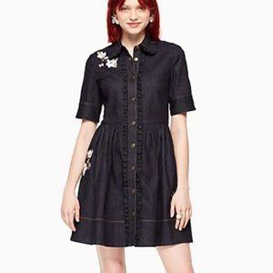 Kate Spade Embroidered Denim Shirtdress